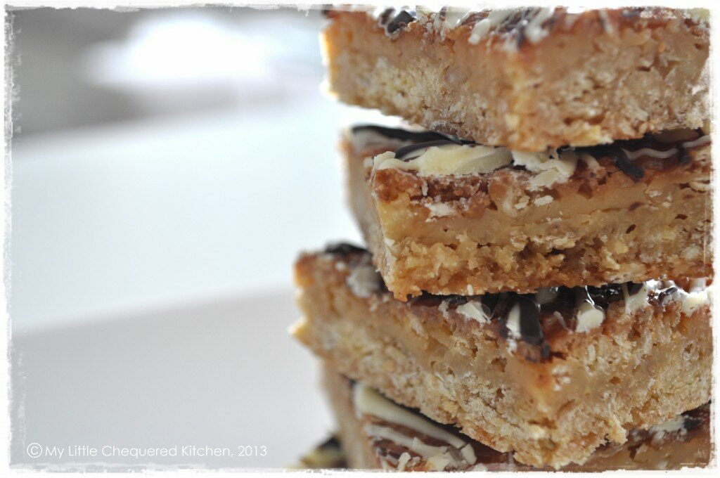 Oaty Caramel Slice - 8